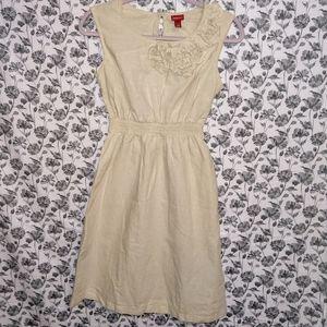 Merona- Cream/Floral Sleeveless Scoop Neck Dress
